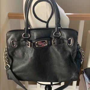 Michael Kors Hamilton Large Handbag Black Leather